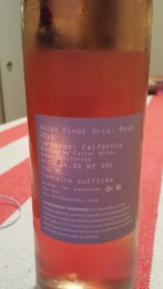 2013 Hajdu Pinot Gris, Rose - back label