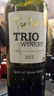 2012 Trio Spirit of Alona Valley - Carignan