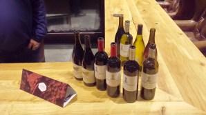 Netofa Wines we tasted in the tasting room