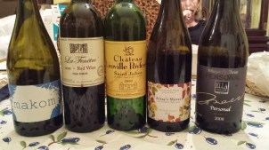 Wines shared with BC and CG over Passover