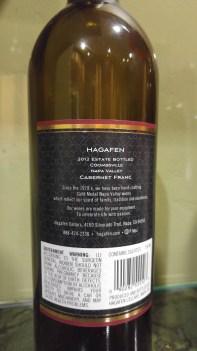 2012 Hagafen Cabernet Franc - bl