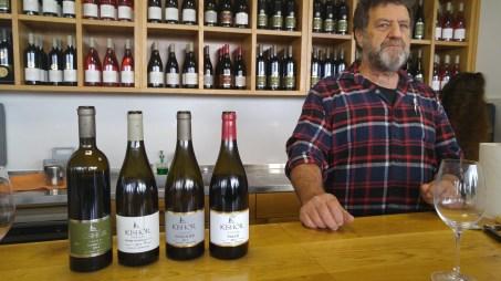 Richard Davies and the four wines I tatsed at Kishor Winery