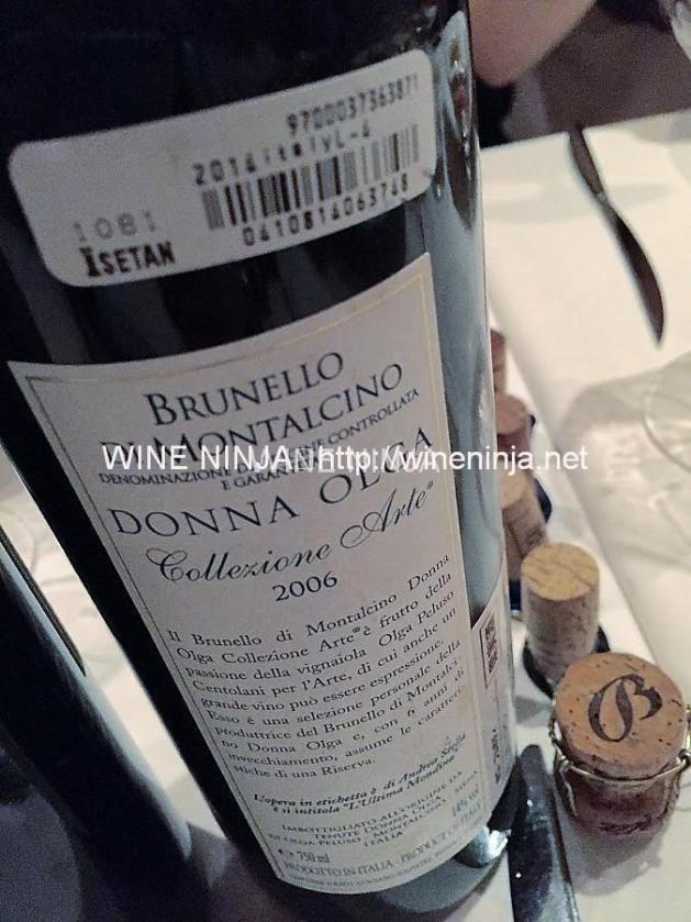 ドンナ・オルガ/コレツィオーネ・アルテ ブルネッロ・ディ・モンタルチーノ2006