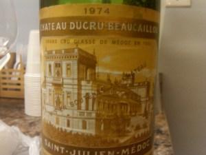 Ducru Beaucaillou, St.-Julien 1974