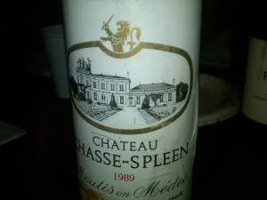Château Chasse-Spleen, Moulis 1989