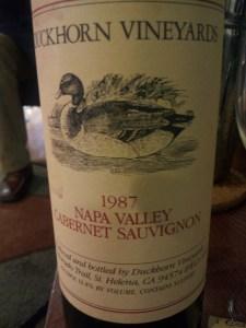 Duckhorn Cabernet Sauvignon Napa Valley 1987