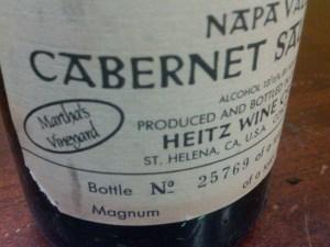 Heitz Cabernet Sauvignon Martha's Vineyard Napa Valley 2001