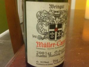 Muller-Catoir Haardter Mandelring Scheurebe Spatlese, Pfalz 2001