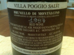 Salvi Brunello 1997