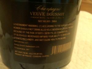 Veuve Doussot Memory 2004 #2