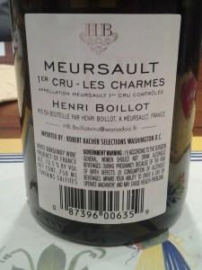 Boillot Meursault Charmes 2004