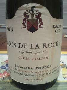Ponsot Clos Roche 1988 #5