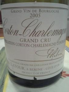 Louis Latour Corton Charlemagne 2005 #1