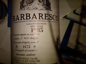 Giacosa Barbaresco Gallina di Neive 1985