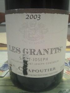 Chapoutier Joseph Granits 2003