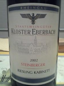 Kloster Eberbach Steinberger Kabinett 2002