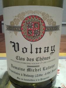 Lafarge Volnay Chenes 1993