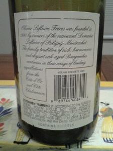 Olivier Leflaive Volnay Fremiets 1993 #2
