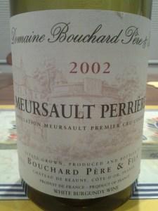 Bouchard Meursault Perrieres 2002