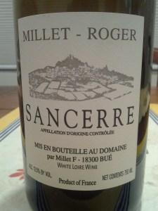 Millet Roger Sancerre 2012