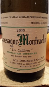 Ramonet Chassagne Cailllerets 2000