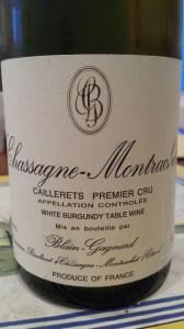 Blain-Gagnard Chassagne Caillerets 2010