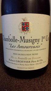 Groffier Chambolle Amoureuses 1999