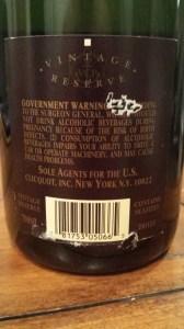 Veuve Clicquot Reserve Brut 1990 #1