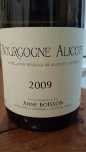 Boisson Bourgogne Aligote 2009