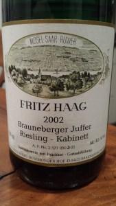 Fritz Haag Brauneberger Juffer Kabinett 2002