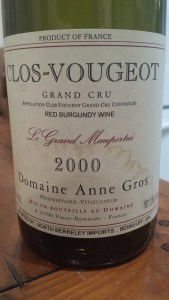 Anne Gros Clos Vougeot 2000 #2