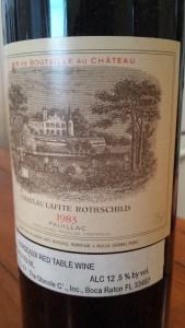 Lafite Rothschild 1983 #1