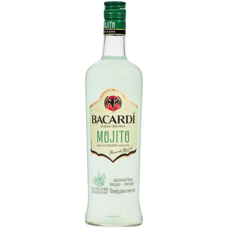 Bacardi Mojito Classic Cocktails 30 750 ML – Wine Online Delivery