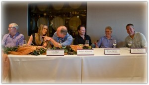 WINEormous listening to the panel discussion at Winegrowers CRUSH in Temecula, CA