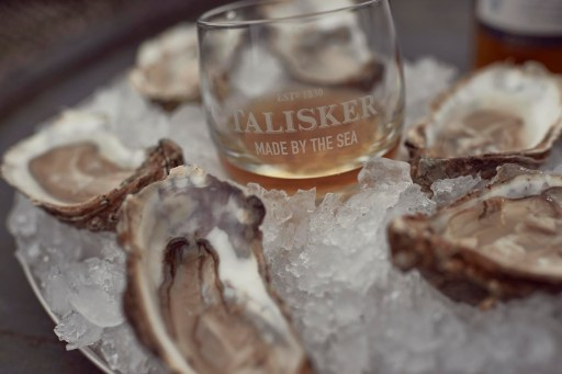 Talisker Single Malt Scotch and local oysters