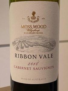 Moss Wood Ribbon Vale Cabernet Sauvignon 2018