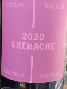 O'Leary Walker Wines Seasonal Release Grenache 2020