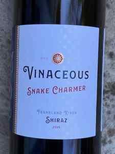Vinaceous Wines Snake Charmer Frankland River Shiraz 2019