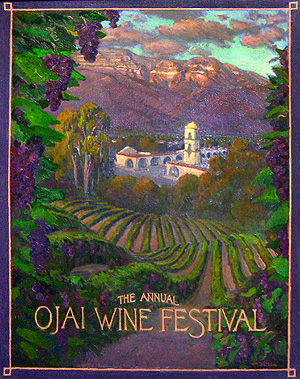 ojai wine festival poster