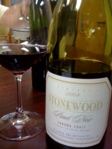 Stonewood 08 Pinot Noir Sonoma Coast
