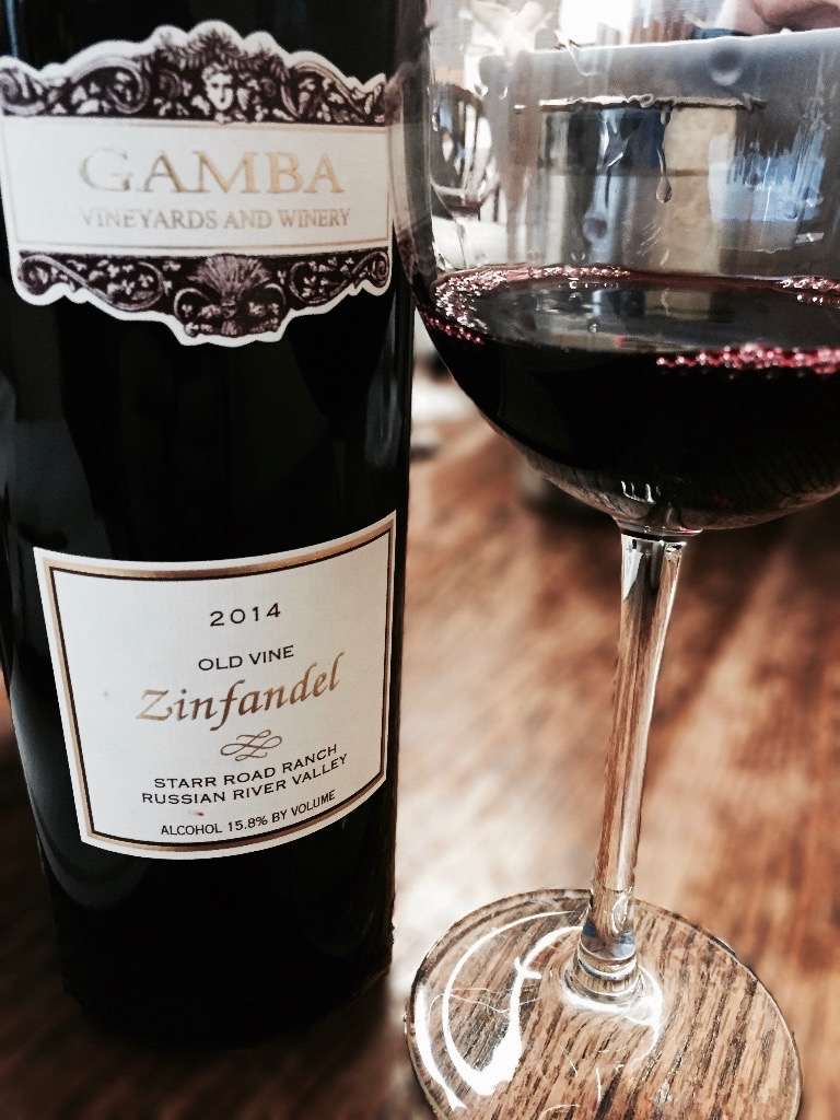 Gamba 2014 Starr Road Ranch Old Vine Zinfandel