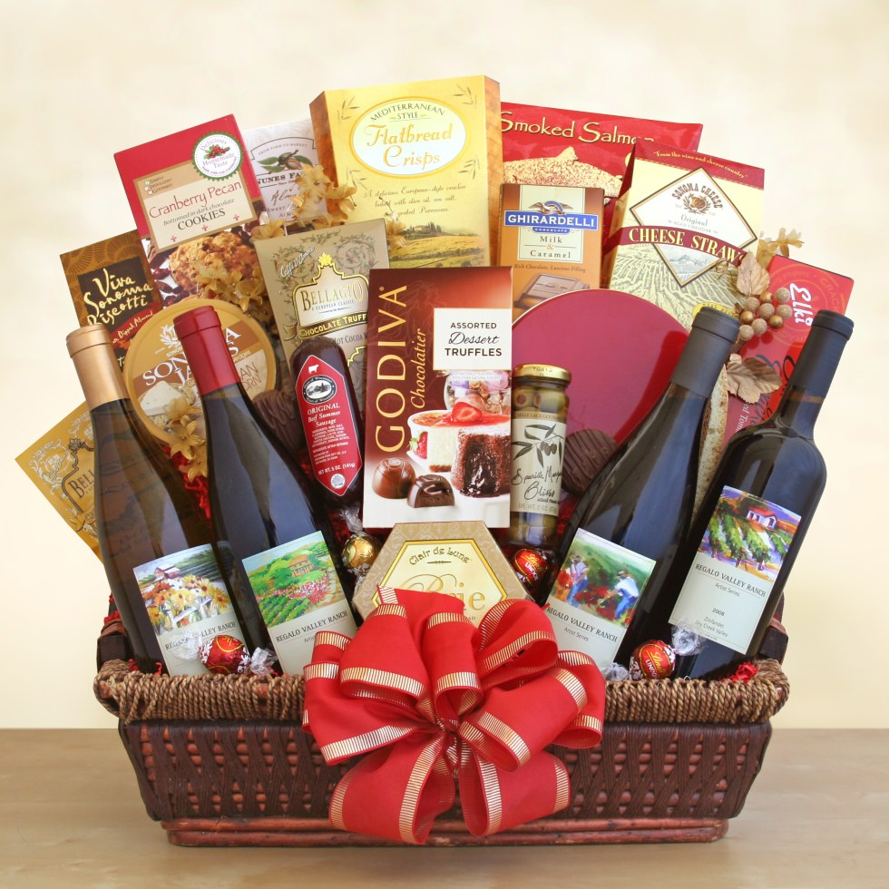 California Splendor Gift Basket – Wine Lovers' Shopping Mall