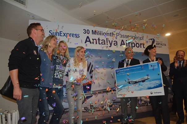 Antalya Airport reaches 30 million passengers for the first time