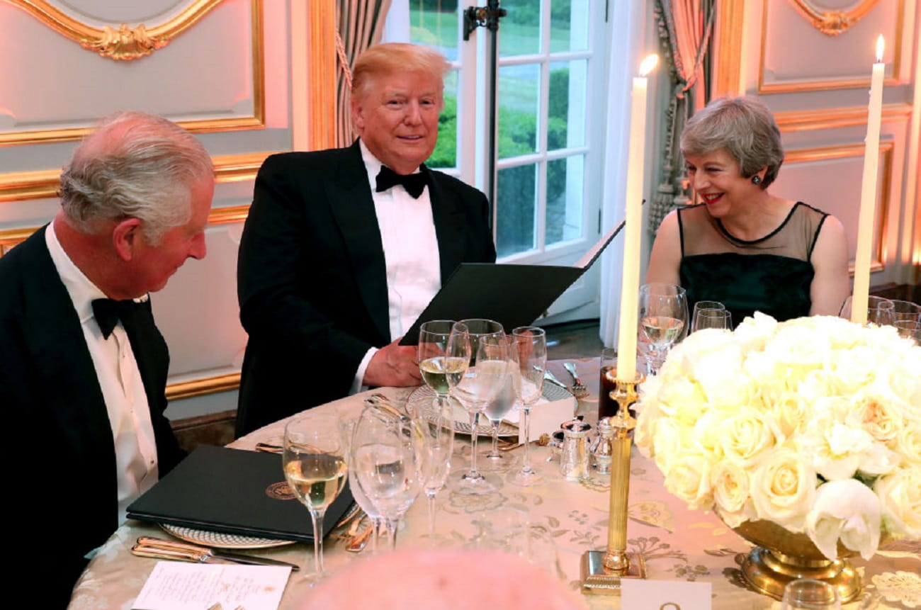 President Trump serves up California wines to Prince Charles