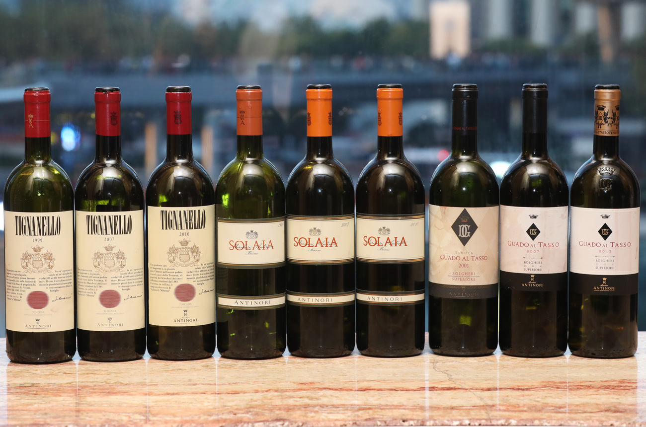Antinori masterclass: Super Tuscans from 1999 to 2013