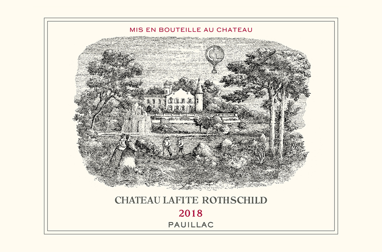 See Lafite Rothschild's label redesign for 2018 vintage