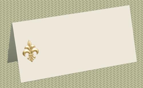 Place Cards Fleur de Lis