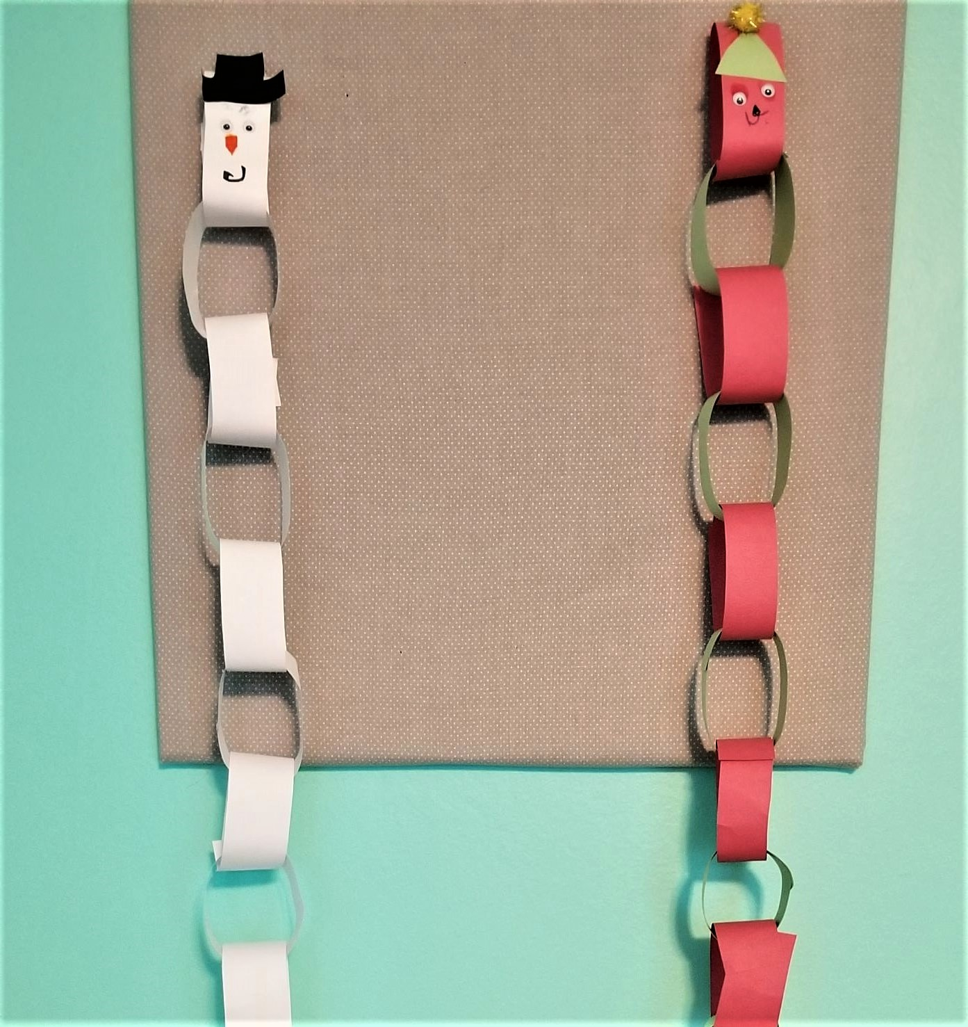 Easy Holiday Craft for Kids: Chain Character
