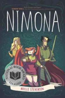Nimona -- Lord Blackheart, a villain with a vendetta, and his sidekick, Nimona, an impulsive young shapeshifter, must prove to the kingdom that Sir Goldenloin and the Institution of Law Enforcement and Heroics aren't the heroes everyone thinks they are.