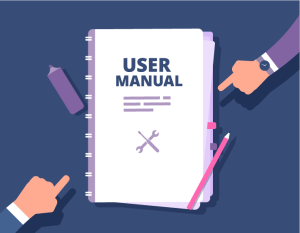 User Manual with Fingers Pointing to It